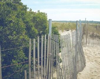BEACH Photography ~ Beach Fence, Cape Cod, Massachusetts, New England, Travel, Atlantic, Ocean, Coastal