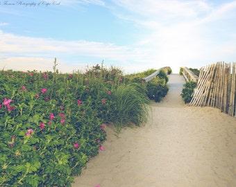 BEACH Photography ~ Beach Fence, Cape Cod, Massachusetts, New England, Travel, Atlantic, Ocean, Coastal, Sandwich