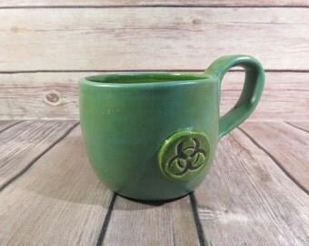 Green Biohazard mug