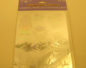 Vintage Holographic Stickers Craft Supplies Embellishment