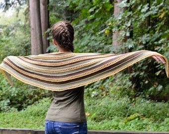 fall to spring shawl | PDF knitting pattern