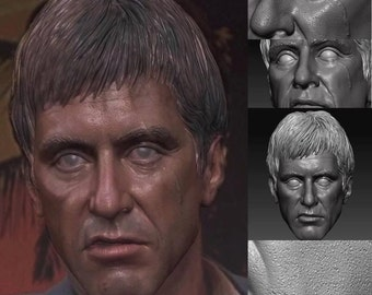 One of a Al Pacino Scarface head 1/6th scale