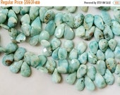 51% ON SALE Larimar Beads, Larimar Faceted Pear Beads, Larimar Necklace, 9x11mm Approx., 4 Inch Strand, Larimar Wholesale