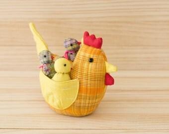 Yellow Chicken Family/ Hen