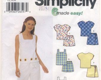 Simplicity 5613 Misses Top, Pants or Skort  Plus Sizes 14 - 16 - 18 - 20