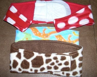 3 WHIPPET Belly Band Dog Diapers