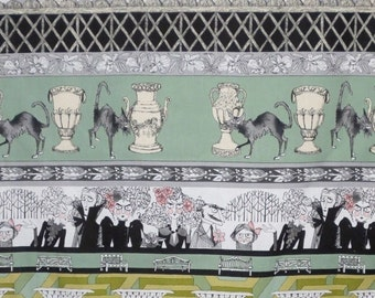 ON SALE Sage Green and Mauve Pink Ghastlie Grounds Print Pure Cotton Fabric from Alexander Henry-One Yard