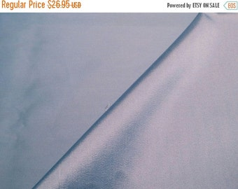 ON SALE Copen Blue Silk and Wool Alaskine Fabric--One Yard