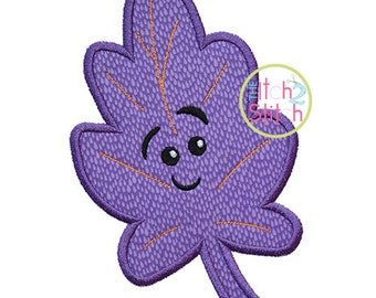 Cute Fall Leaf 2 Applique Design For Machine Embroidery, INSTANT DOWNLOAD now available