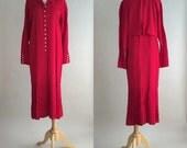 80s Flapper Dress / 80s LRD / Vintage 1980s Red Dress / Vintage 80s Red Dress / Vintage LRD / Vintage Dress / 80s Dress / Joan Martin Dress