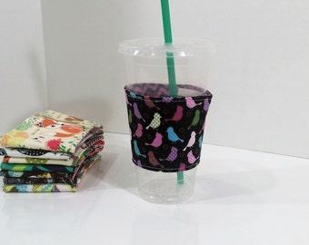 Eco-Friendly Coffee/Tea Sleeve --- Little Birdies