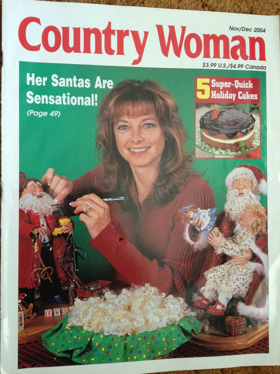 Magazine holiday country woman lot of 2 crafts by annimae182 for Country woman magazine crafts