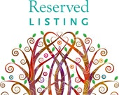 Reserved  listing for Alex & Mike