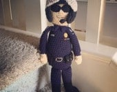 Crochet Motorcycle Police Officer For Kate
