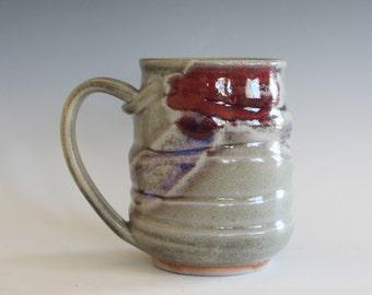 Coffee Mug, 14 oz, handmade ceramic cup, ceramic stoneware mug, coffee cup