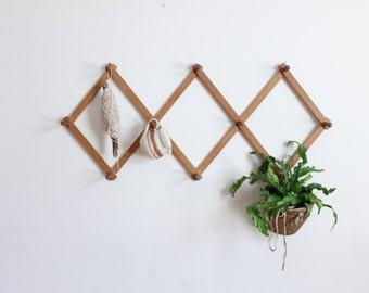 vintage wood peg rack