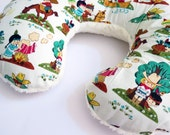 Reversible Boppy Nursing Pillow Cover: Vintage Cowboys & Indians with Light Cream Soft n Fluffy