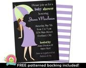 Baby Shower Invitations - Baby Girl Shower Invitations - Mint and Purple Baby Shower - Girl Baby Shower Invite - Printable Baby Shower