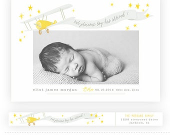 Illustrated baby Card 3 with Address Label