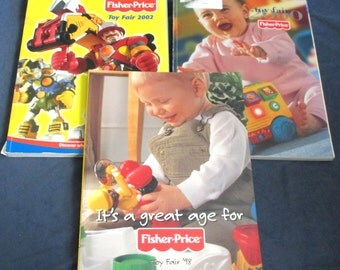 Fisher-Price Little People three Toy Catalogs 1998 to 2002