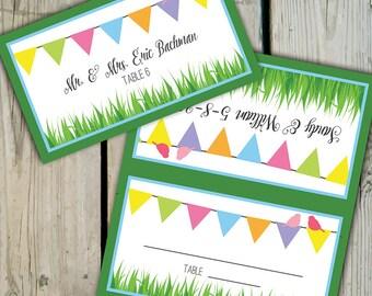 30 custom fun love birds bunting place cards escort cards wedding place cards