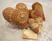 Valentine Heart Cupboard Tucks, Home Decor, Set of Three, III