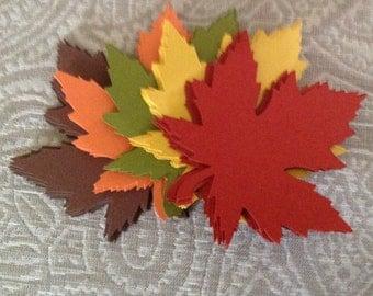 100 Large 4 Inch Fall Leaves die cuts