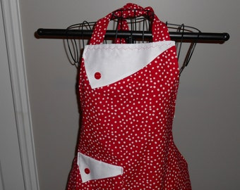Red and White Polka Dot Women's Apron