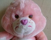 "Vintage Care Bear ""Love A Lot Bear"" Plush 1983"