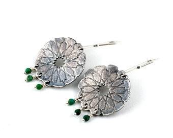 Chandelier Earrings | Turquoise Jewelry | Silver Dangle