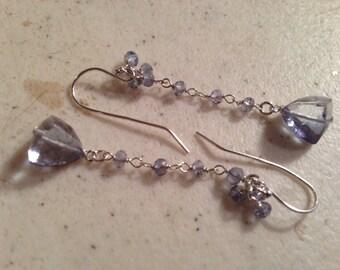 Blue Earrings - Gemstone Jewellery - Mystic Blue Quartz Jewelry - Sterling Silver - Chic - Luxe - Fashion