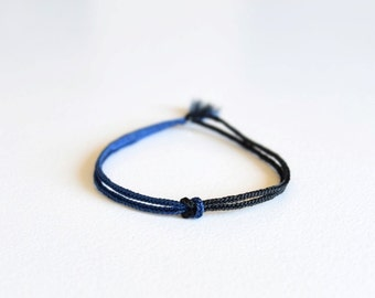 ViA - Two Tone - Braid Bracelet - Infinity Knot - Bond - String - Cord / Hand Knotted by fig&fig