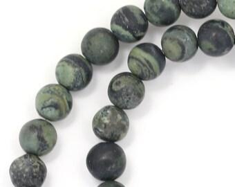 Kambaba Jasper Beads - Matte Finish - 6mm Round