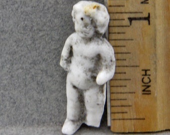Vintage Antique Excavated German Frozen Charlotte Porcelain Ceramic Doll