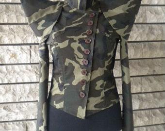 non-standard camouflage women's short jacket - bolero