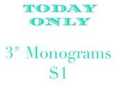 Monogram Decal, Monogram Sticker, Vinyl Decal, Vinyl Monogram, Yeti Decal, Vine Monogram, Laptop Monogram, Bottle Monogram, Preppy Monogram
