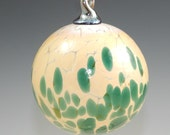 "NW Hand-Blown Glass Holiday/Christmas Ornaments ""Jade Drop"""