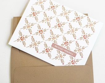 Personalized Note Cards, Personalized Stationery, Women's Gift // Boxed Set of 12 // LATTICE ROSE