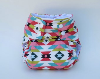 All-in-One Cloth Diaper  Tribal Pinks