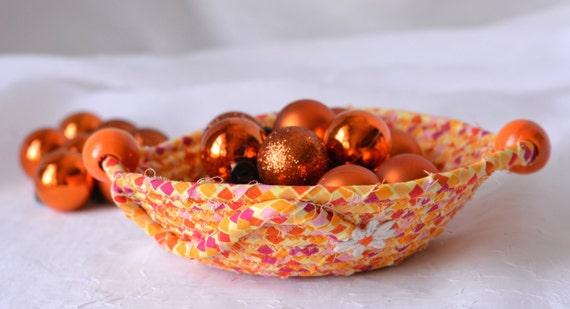 Candy Corn Bowl, Handmade Fall Candy Dish, Halloween Candle Holder, Decorative Fall Basket, Cute Autumn Desk Accessory Bowl