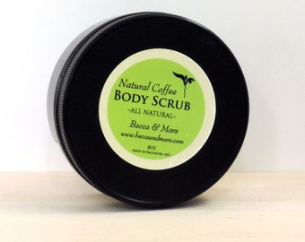 Coffee Body Scrub - Body Polish, Gift for Coffee Lover, Natural