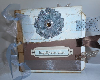 6x6 Paperbag Wedding Scrapbook Album