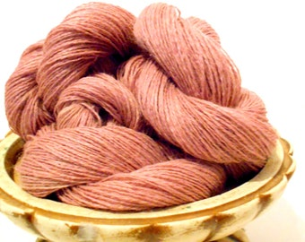 Dusty Rose Pink Vintage Yarn, 2 Ply Knitting Yarn, Mystery Yarn, Fingering Weight Y162