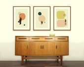 LOVE in THE ABSTRACT - Eternal Sunshine of The Spotless Mind, Lost in Translation, Annie Hall Inspired Posters - 12 x 18 Mid Century Modern