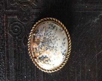 Vintage Dendrite Agate Brooch/Pin