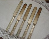 SHOP SALE Set of 5 Vintage Dinnerware Knives