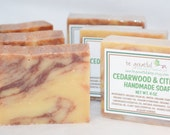 Cedarwood & Citrus Cold Process Soap Bar