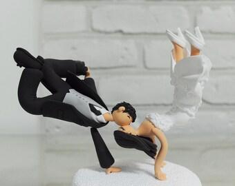 Custom Wedding Cake Topper, Break Dancing Couple Cake Topper, Funny Cake Topper, Dancer Cake Topper