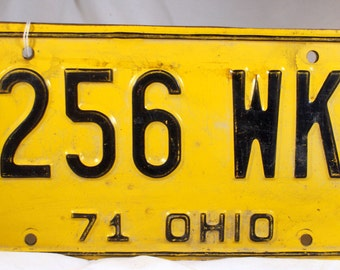1971 Ohio license plates 256 WK