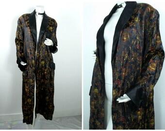 90s 80s 70s silk japanese kimono robe